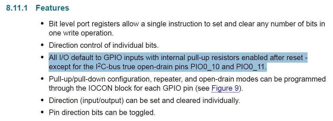 LPC845 Datasheet Section 8.11.1